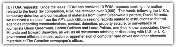 ODNI Snowden FOIA