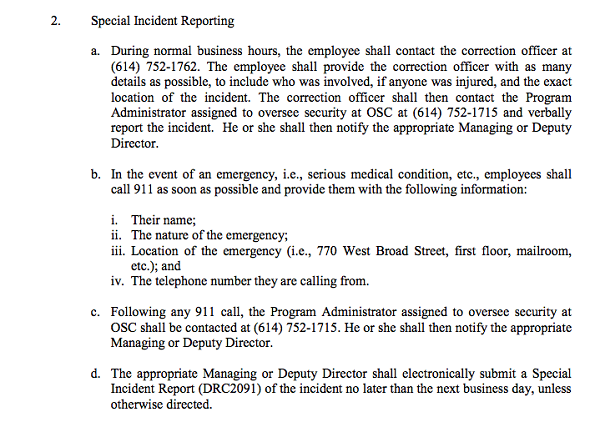 special incident reports offer a rare glimpse into daily