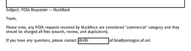 Air Force MuckRock Notes