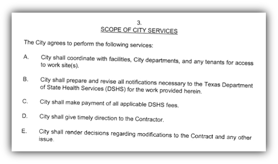 City services clause