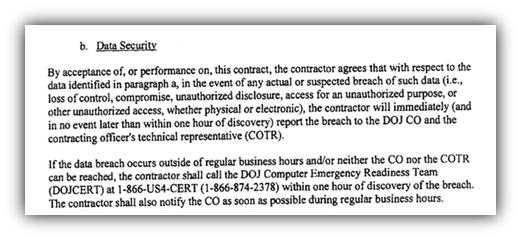 Data security breach agreement