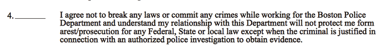 Boston police releases confidential informant consent form