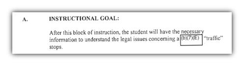 DEA instructional goal