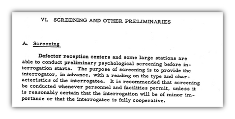 Defector screening centers