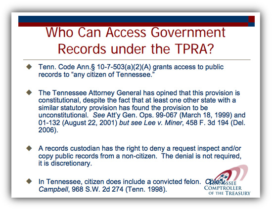 2009 TN Open Records presentation