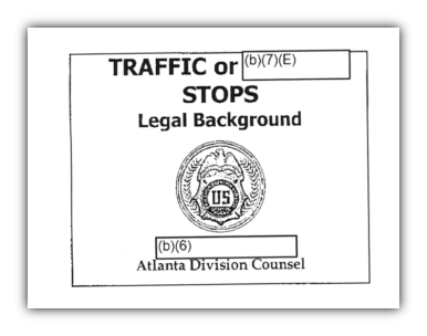 DEA traffic or redacted stops