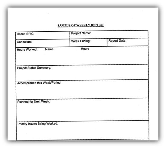 DEA contractor weekly report